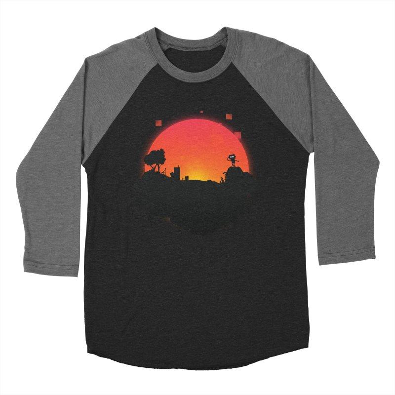 Sunrise of robot island Men's Baseball Triblend T-Shirt by noomi's Artist Shop