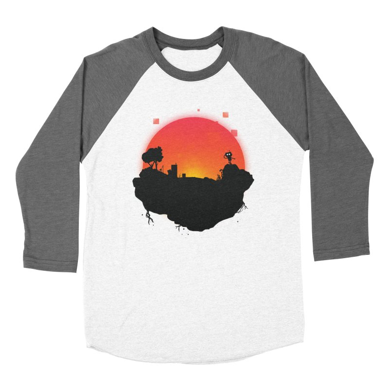 Sunrise of robot island Men's Baseball Triblend T-Shirt by noomi's Artist Shop
