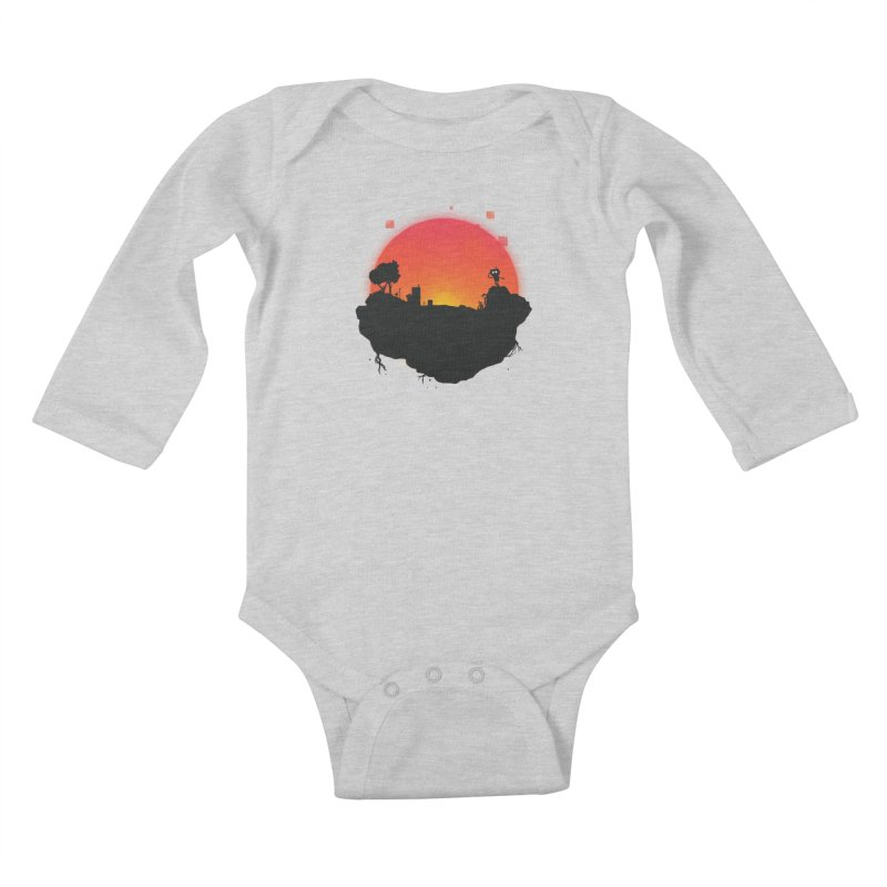 Sunrise of robot island Kids Baby Longsleeve Bodysuit by noomi's Artist Shop