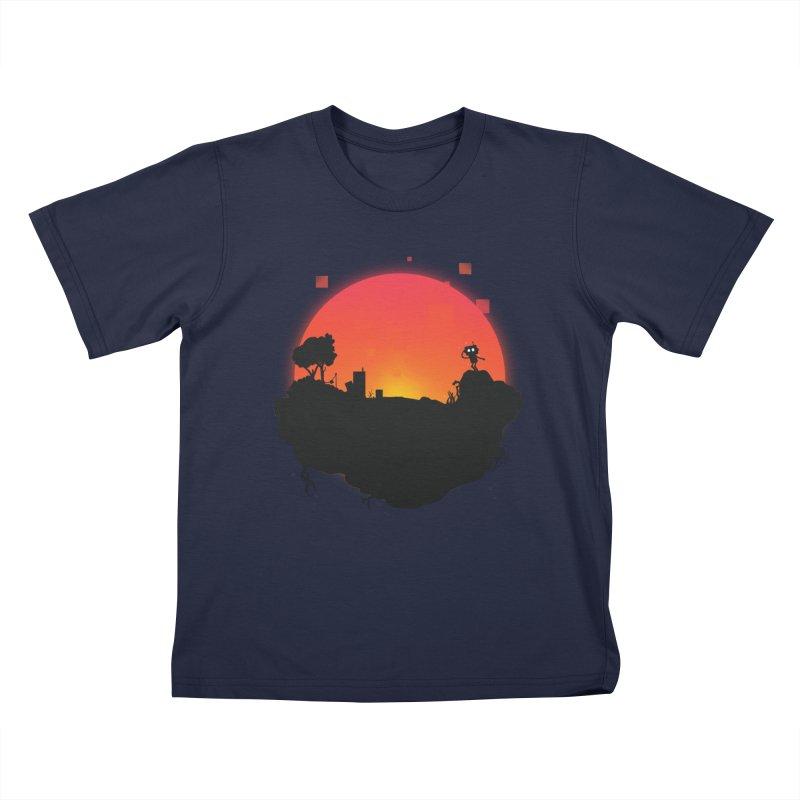 Sunrise of robot island Kids T-Shirt by noomi's Artist Shop