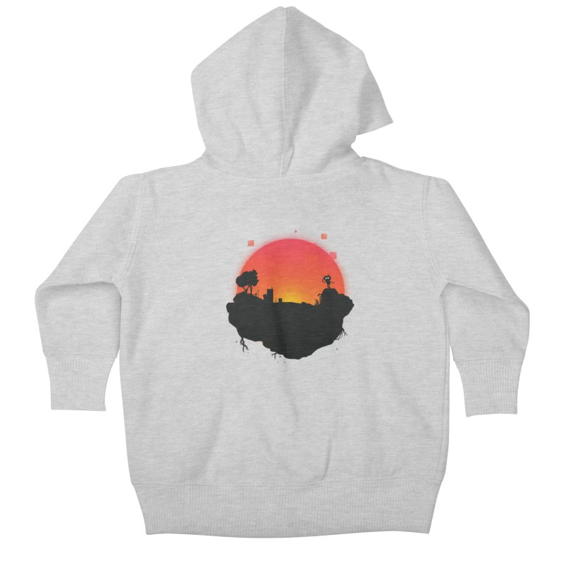 Sunrise of robot island Kids Baby Zip-Up Hoody by noomi's Artist Shop