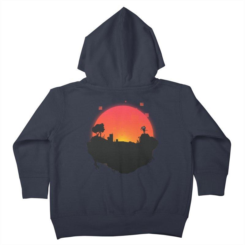 Sunrise of robot island Kids Toddler Zip-Up Hoody by noomi's Artist Shop