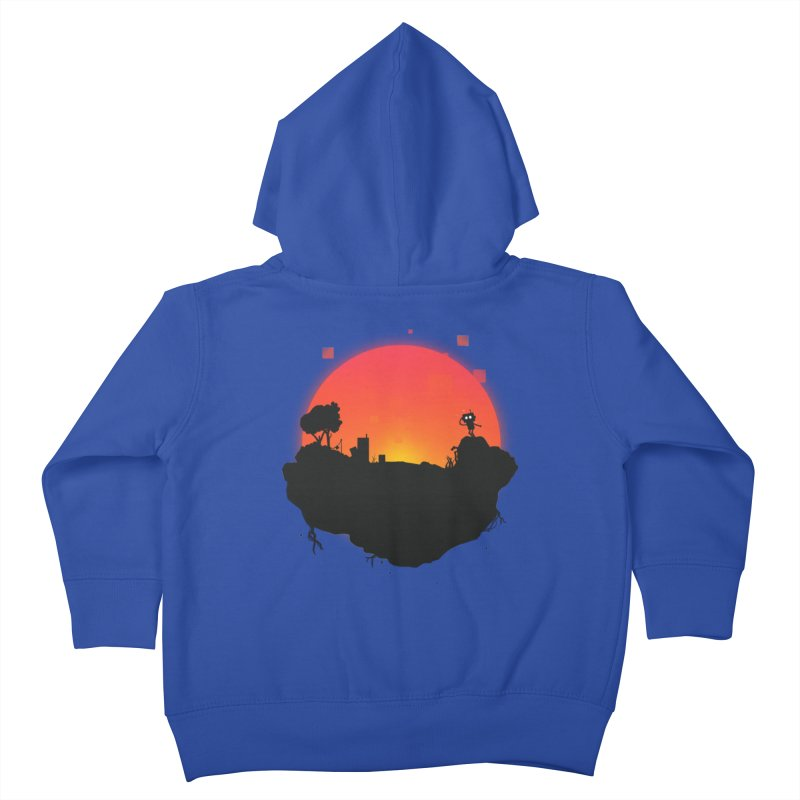 Sunrise of robot island Kids Toddler Zip-Up Hoody by noomi's Artist Shop
