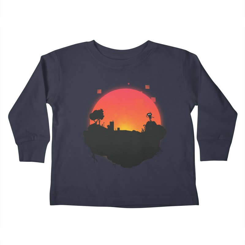 Sunrise of robot island Kids Toddler Longsleeve T-Shirt by noomi's Artist Shop