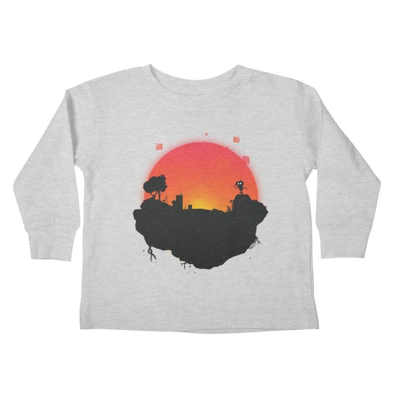 Sunrise of robot island Kids Toddler Longsleeve T-Shirt by noomi's Artist Shop