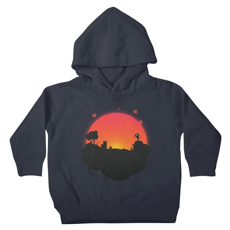 Sunrise of robot island Kids Toddler Pullover Hoody by noomi's Artist Shop