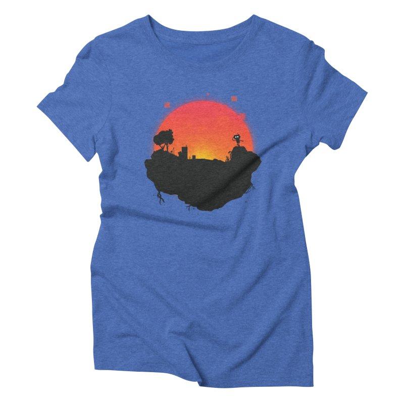Sunrise of robot island Women's Triblend T-Shirt by noomi's Artist Shop