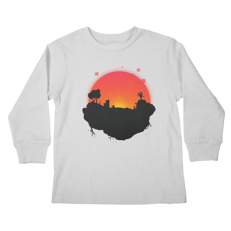 Sunrise of robot island Kids Longsleeve T-Shirt by noomi's Artist Shop