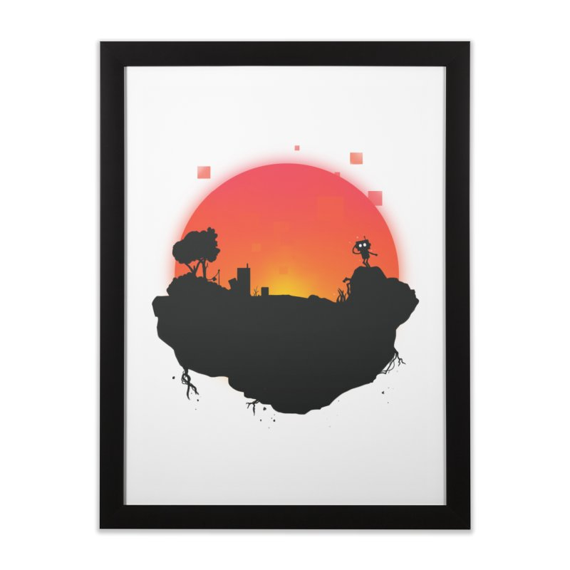 Sunrise of robot island Home Framed Fine Art Print by noomi's Artist Shop