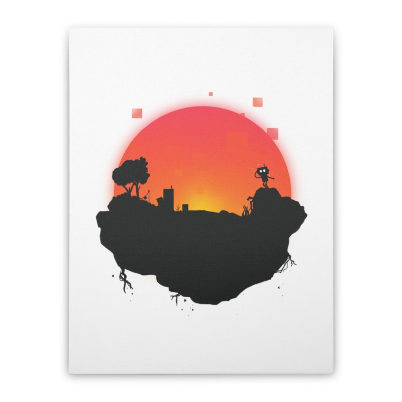 Sunrise of robot island Home Stretched Canvas by noomi's Artist Shop