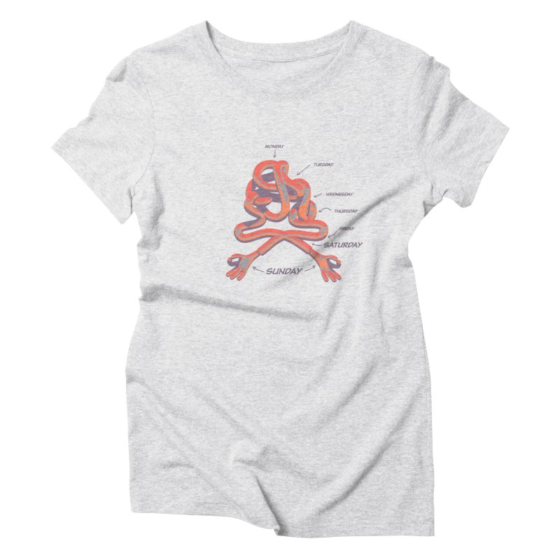 Work Life Balance - Anatomy of a week Women's T-Shirt by normalflipped store