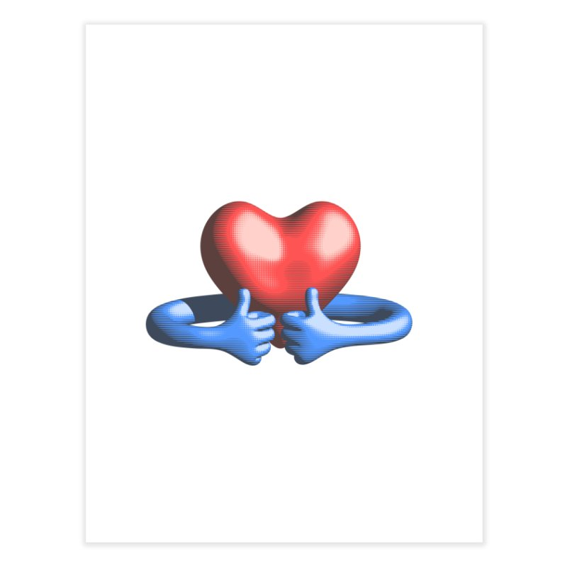 Like me! Love me! Home Fine Art Print by normalflipped store