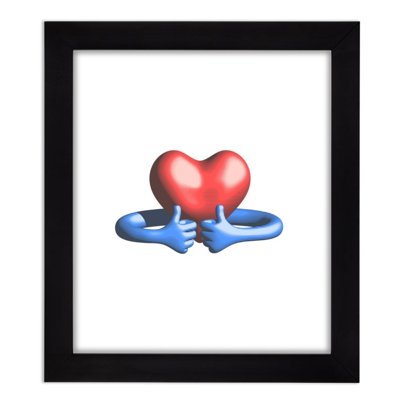 Like me! Love me! Home Framed Fine Art Print by normalflipped store