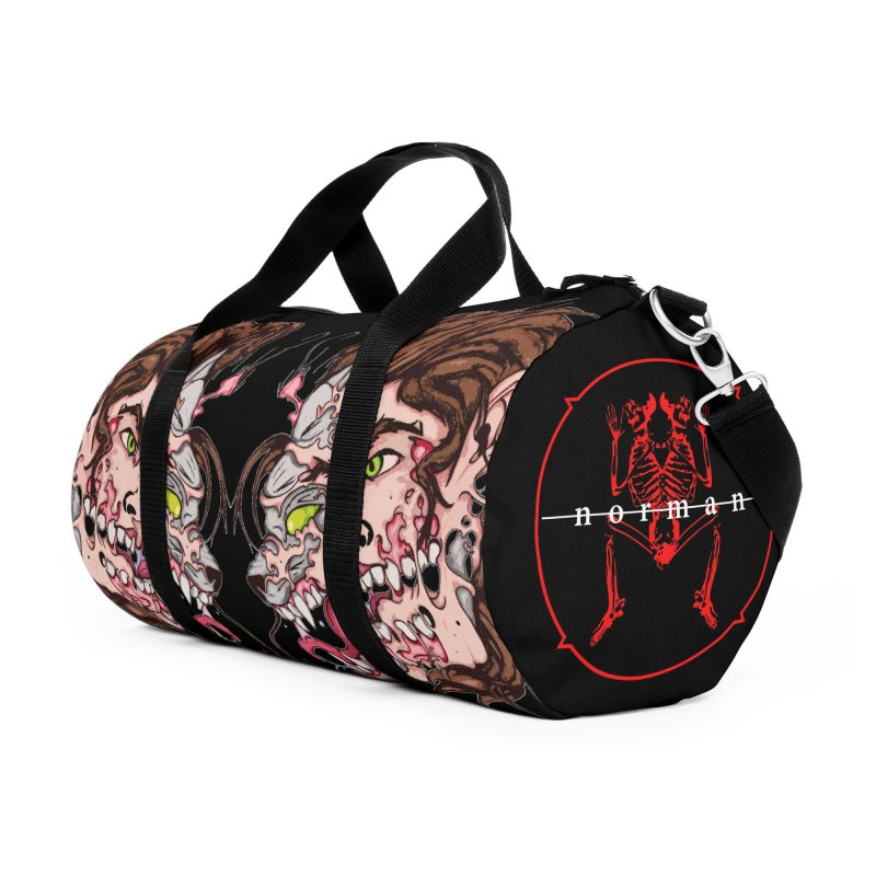 Bury Me With Wolves Accessories Duffel Bag Bag by Norman Wilkerson