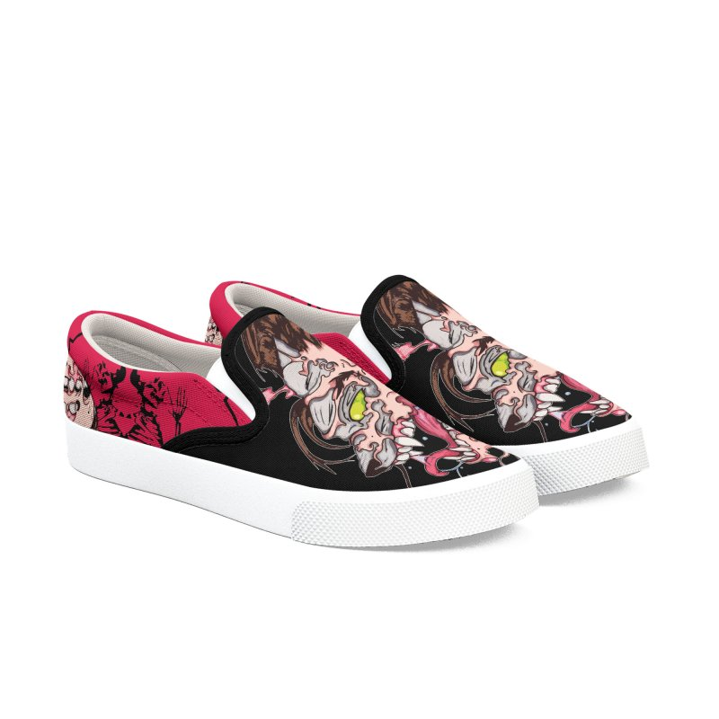 Bury Me With Wolves Women's Slip-On Shoes by Norman Wilkerson