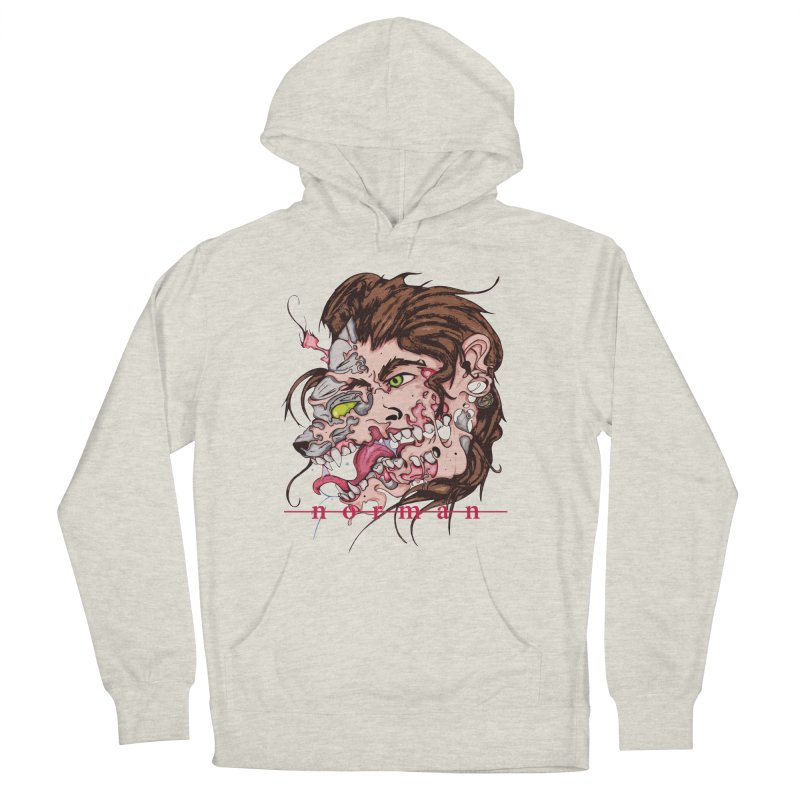 Bury Me With Wolves Men's French Terry Pullover Hoody by Norman Wilkerson