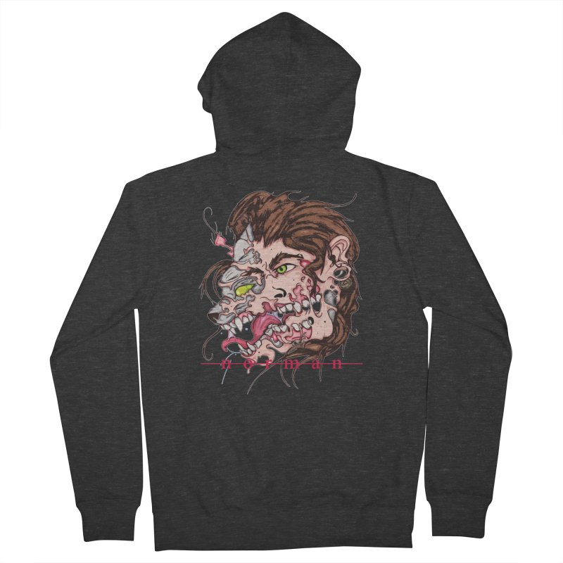 Bury Me With Wolves Men's French Terry Zip-Up Hoody by Norman Wilkerson