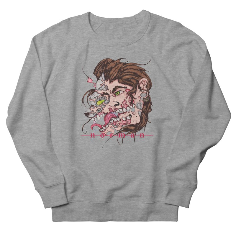 Bury Me With Wolves Men's French Terry Sweatshirt by Norman Wilkerson