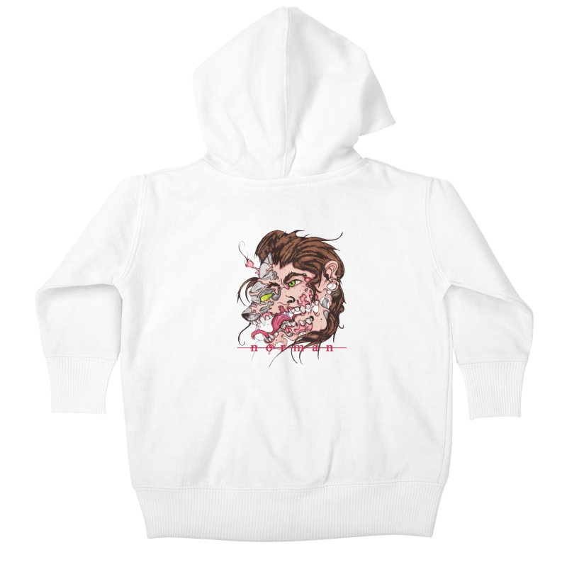 Bury Me With Wolves Kids Baby Zip-Up Hoody by Norman Wilkerson