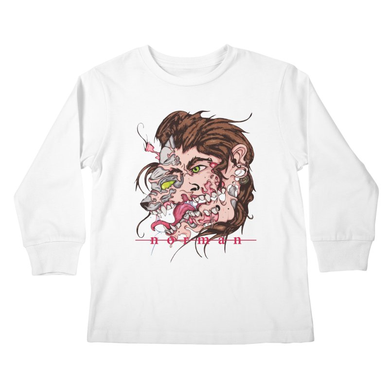 Bury Me With Wolves Kids Longsleeve T-Shirt by Norman Wilkerson