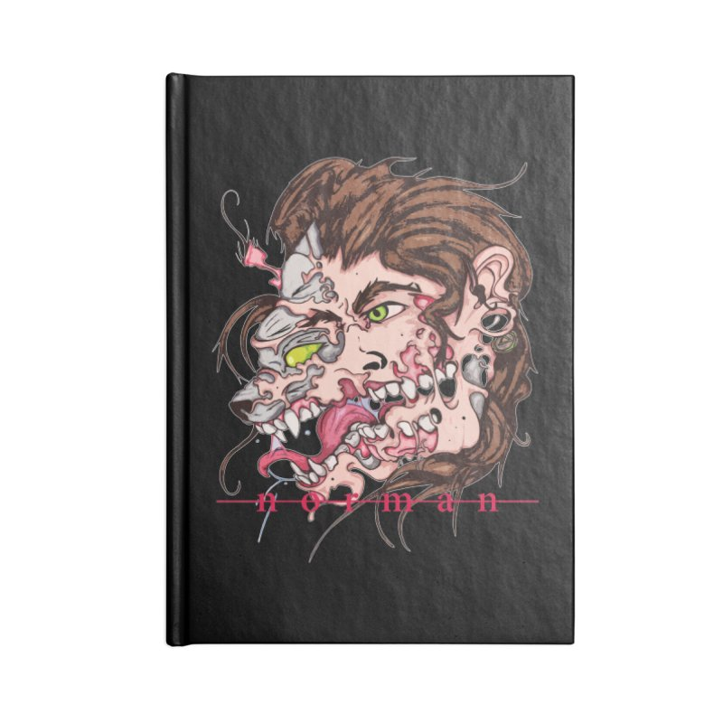 Bury Me With Wolves Accessories Blank Journal Notebook by Norman Wilkerson