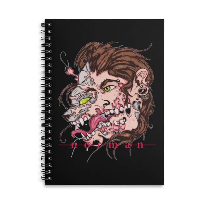 Bury Me With Wolves Accessories Lined Spiral Notebook by Norman Wilkerson
