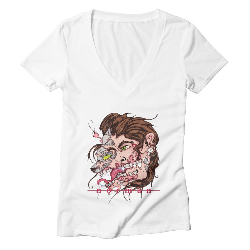 Bury Me With Wolves Women's Deep V-Neck V-Neck by Norman Wilkerson