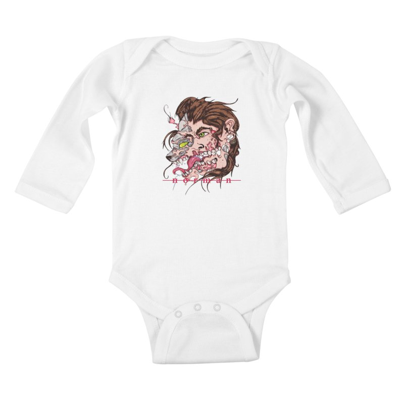 Bury Me With Wolves Kids Baby Longsleeve Bodysuit by Norman Wilkerson