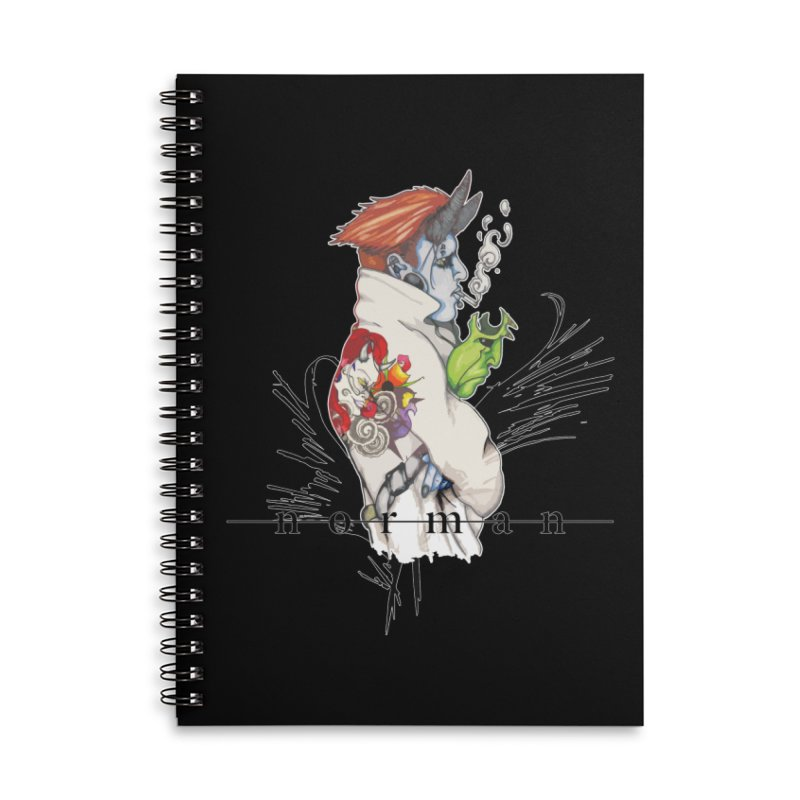 Illusions of Grandeur Accessories Lined Spiral Notebook by Norman Wilkerson