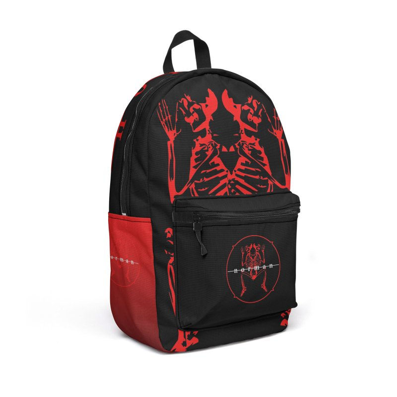 Norman Logo Accessories Backpack Bag by Norman Wilkerson
