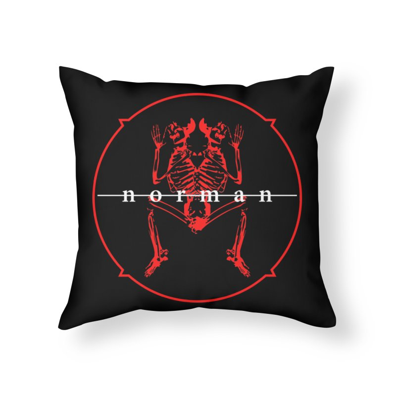 Norman Logo Home Throw Pillow by Norman Wilkerson