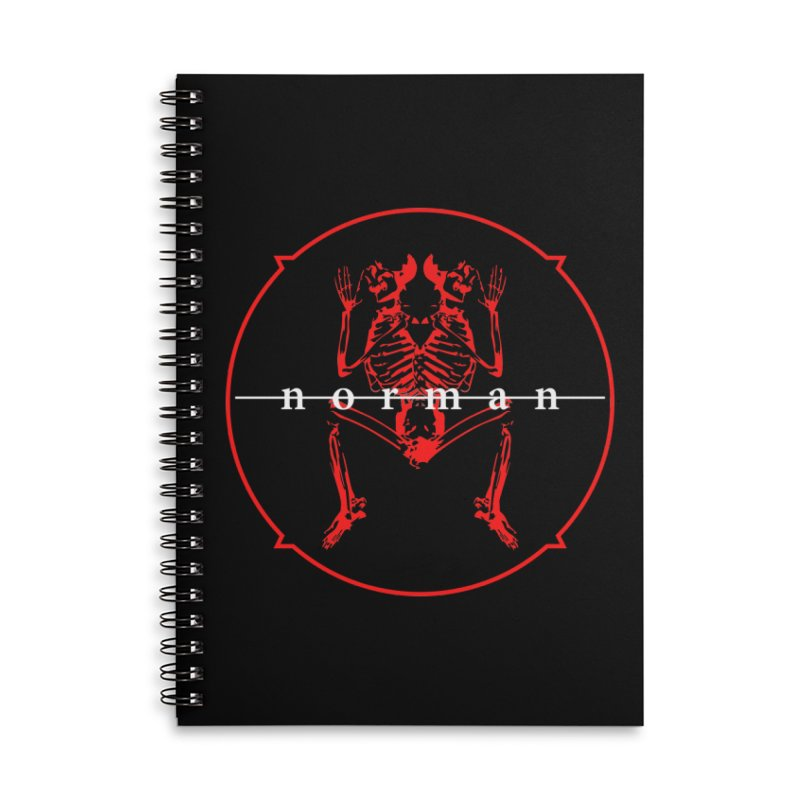 Norman Logo Accessories Lined Spiral Notebook by Norman Wilkerson