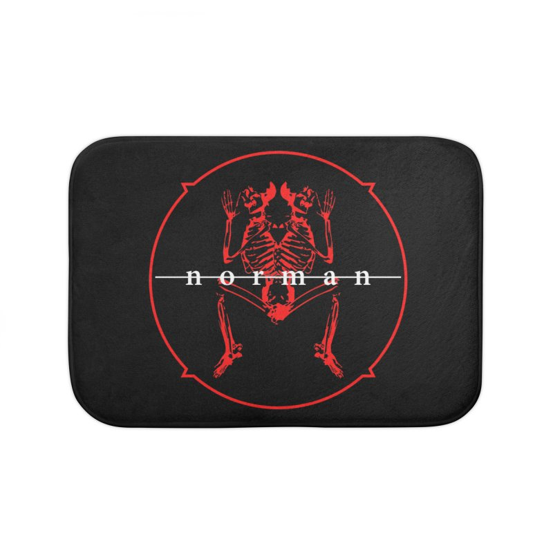 Norman Logo Home Bath Mat by Norman Wilkerson
