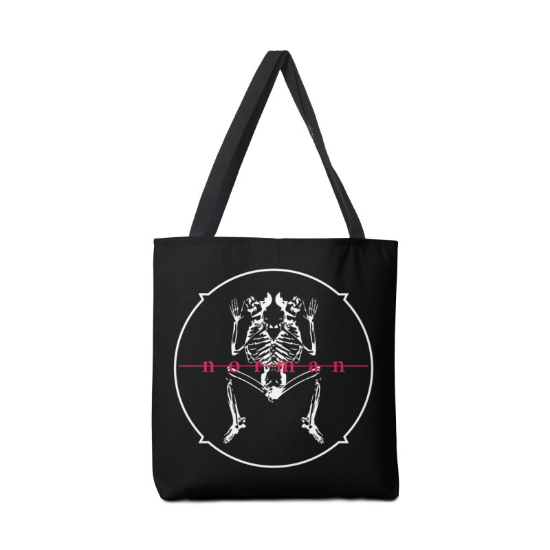 Norman Logo (White) Accessories Tote Bag Bag by Norman Wilkerson