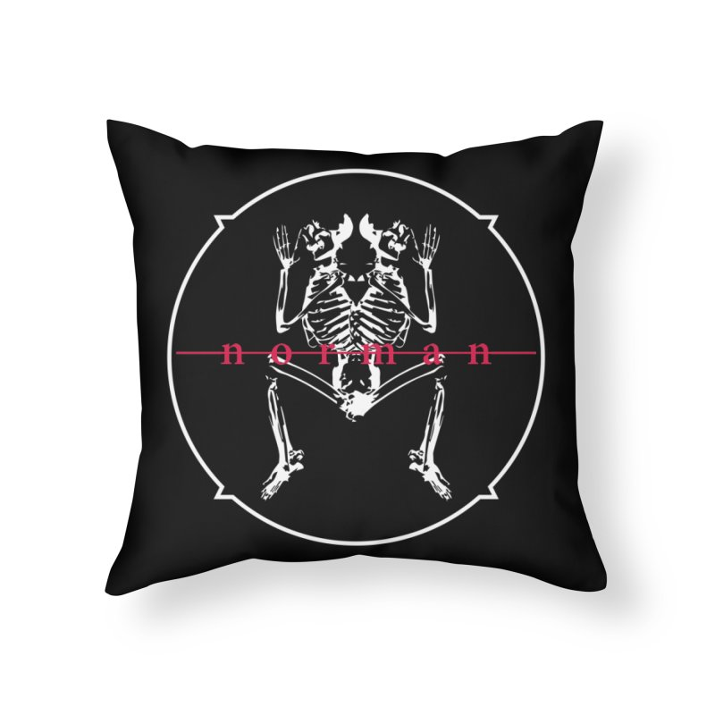 Norman Logo (White) Home Throw Pillow by Norman Wilkerson