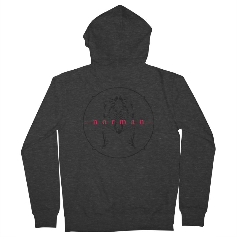 Norman logo (Black) Men's French Terry Zip-Up Hoody by Norman Wilkerson