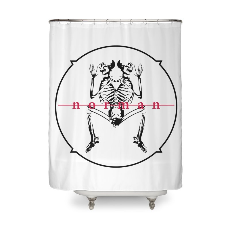 Norman logo (Black) Home Shower Curtain by Norman Wilkerson