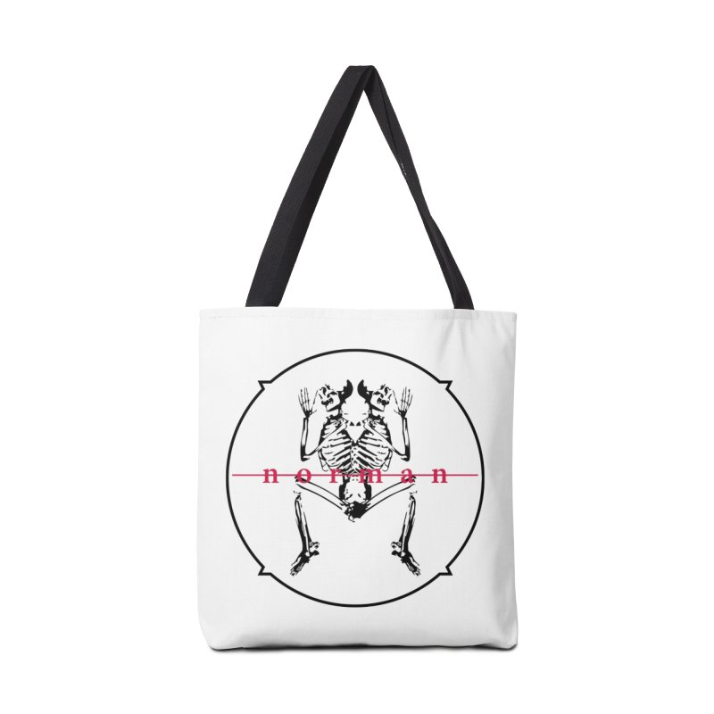 Norman logo (Black) Accessories Tote Bag Bag by Norman Wilkerson