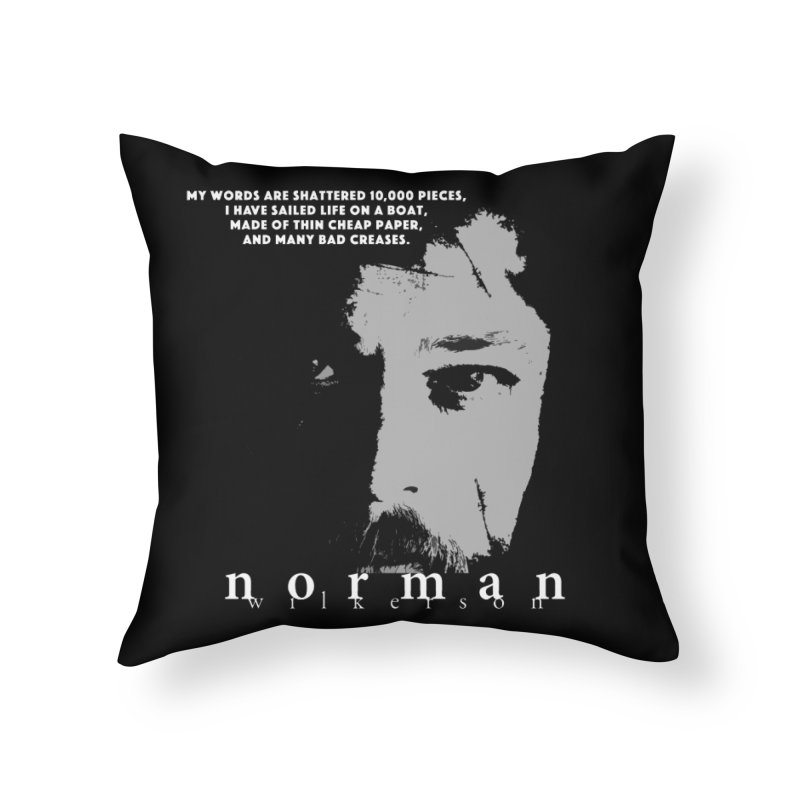 Paperboat Poet Home Throw Pillow by Norman Wilkerson