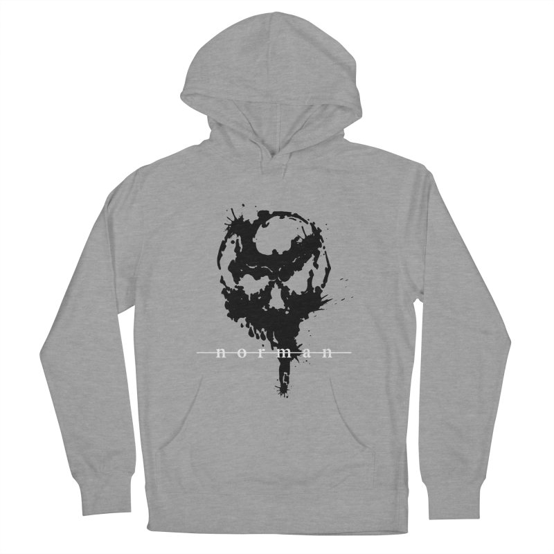 Splatter Skull Men's French Terry Pullover Hoody by Norman Wilkerson