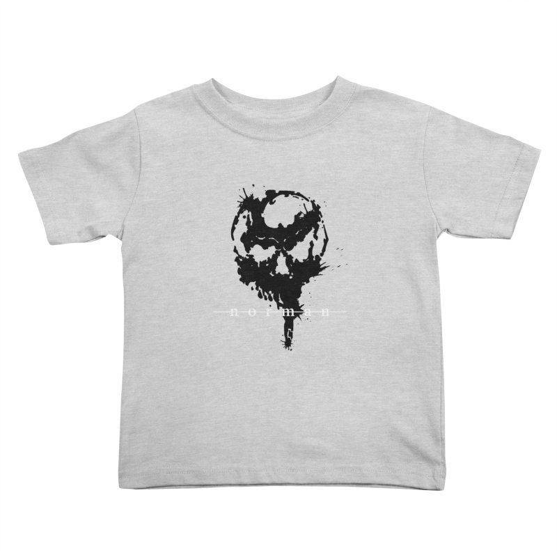 Splatter Skull Kids Toddler T-Shirt by Norman Wilkerson