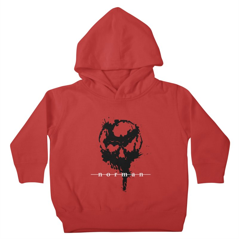 Splatter Skull Kids Toddler Pullover Hoody by Norman Wilkerson