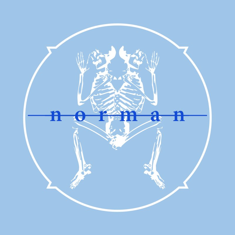 Norman logo (White/Blue) by Norman Wilkerson