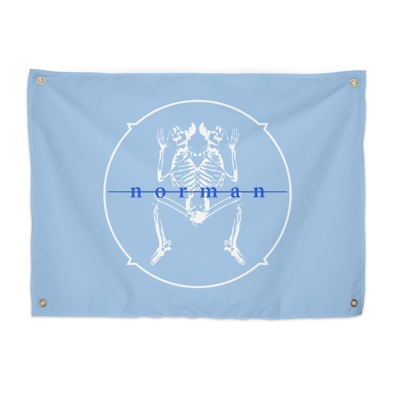 Norman logo (White/Blue) Home Tapestry by Norman Wilkerson