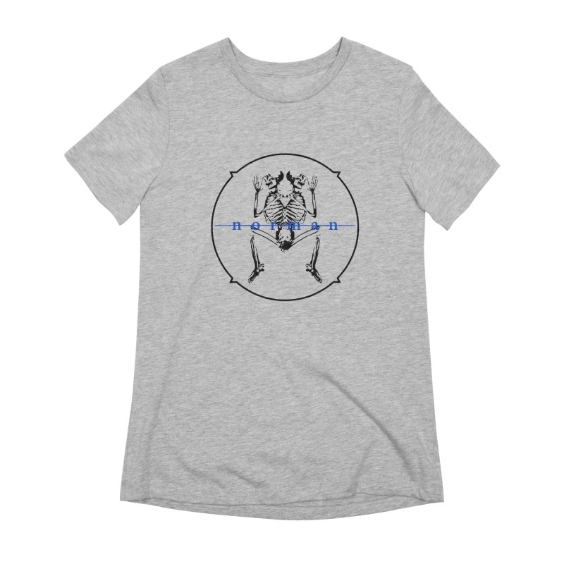 Norman Logo Black/Blue Women's Extra Soft T-Shirt by Norman Wilkerson
