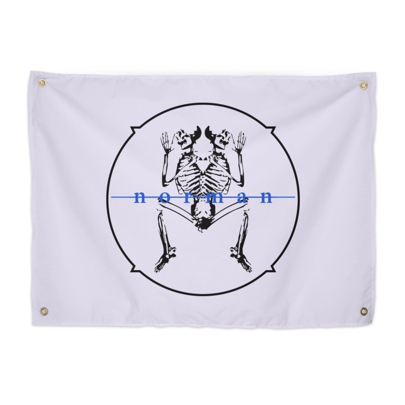 Norman Logo Black/Blue Home Tapestry by Norman Wilkerson