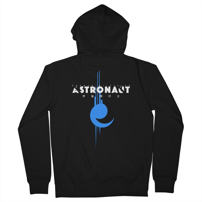 Astronaut Full Logo Men's French Terry Zip-Up Hoody by Norman Wilkerson