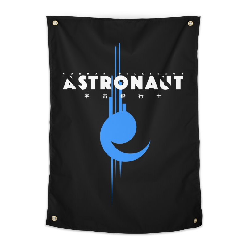 Astronaut Full Logo Home Tapestry by Norman Wilkerson