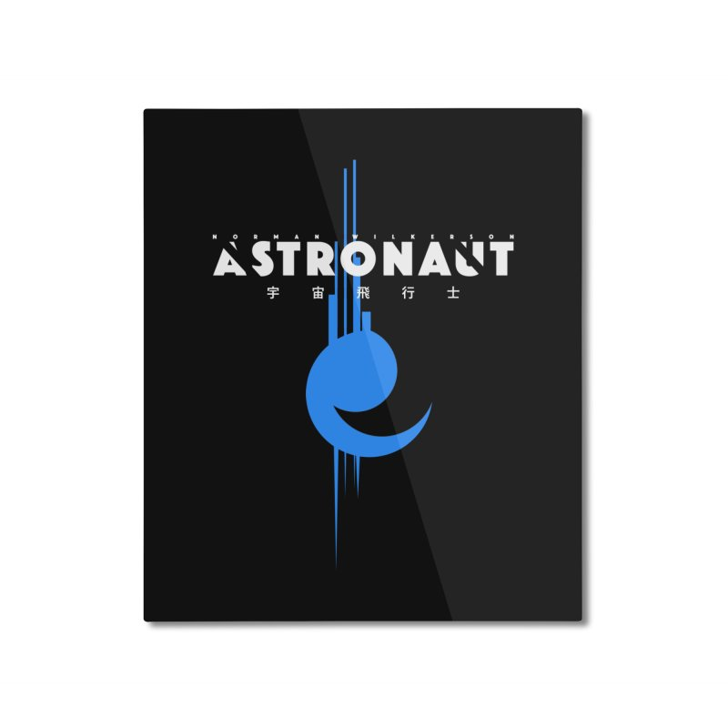 Astronaut Full Logo Home Mounted Aluminum Print by Norman Wilkerson