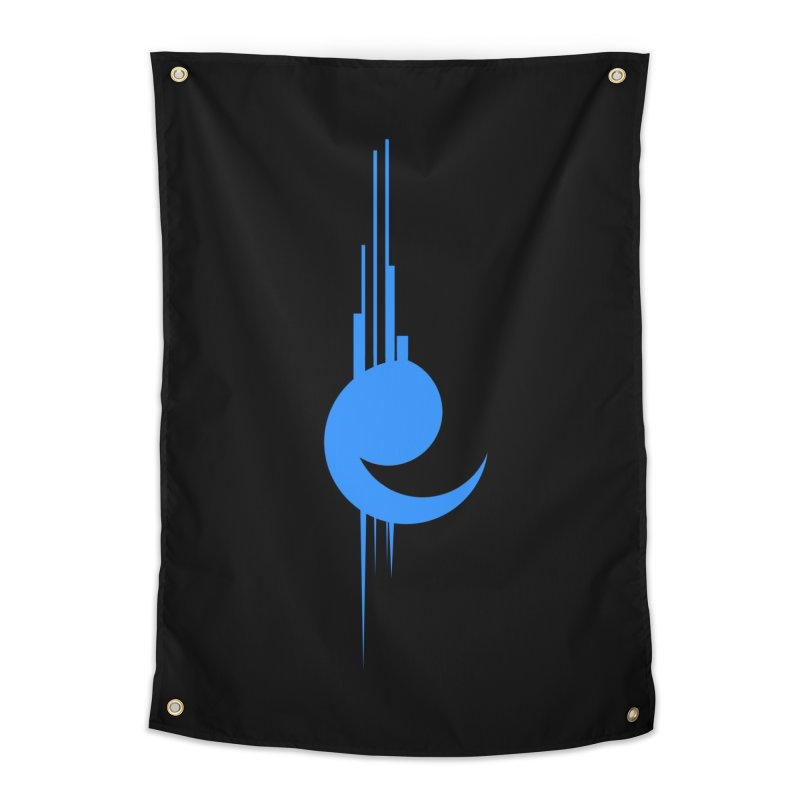 Astronaut Space Station logo Home Tapestry by Norman Wilkerson